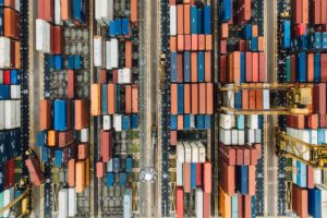 top view of containers